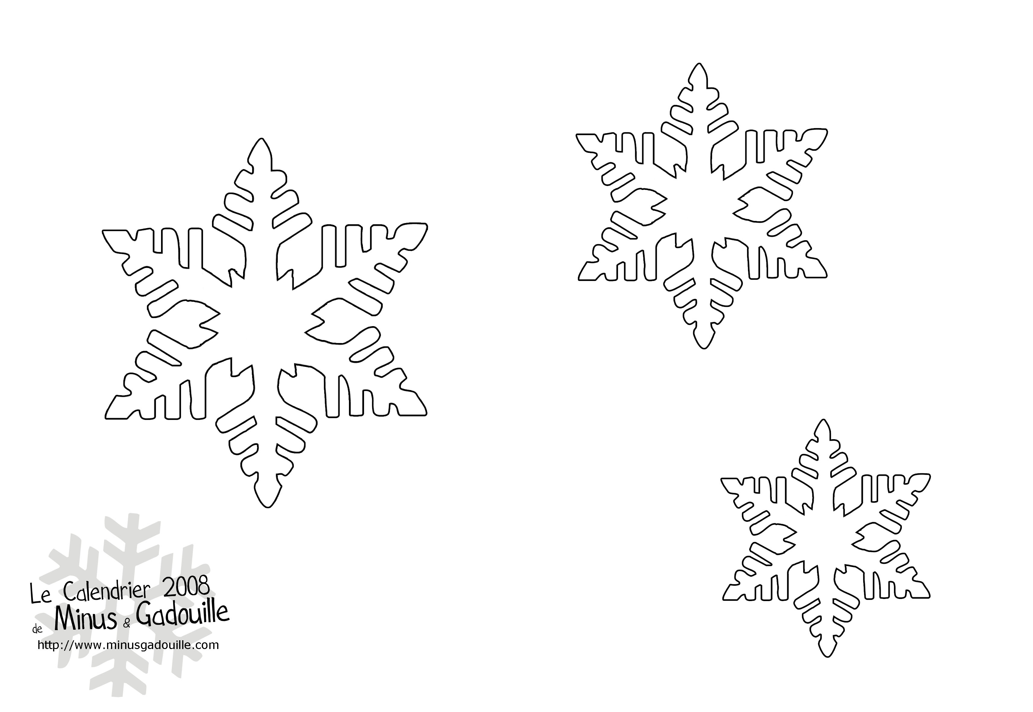 D coupages snow flakes stencils for diy chrismas decor - Decoration de noel a decouper gratuit ...